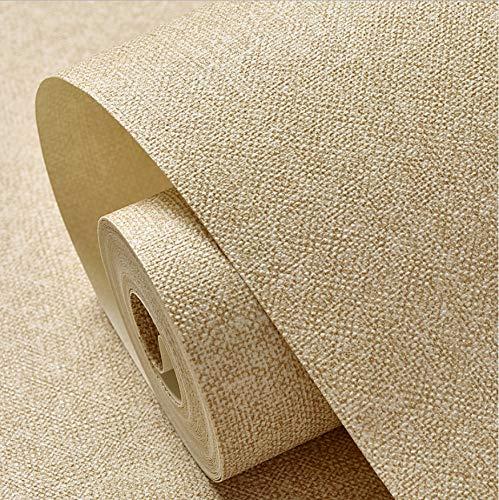 Svsnm Moderne Volltonfarbe Tapeten Wasserdichte Leinen Strukturierte Wand Papierrolle Beige Tapete Vinyl Schlafzimmer Wände 0,53x10 mt