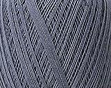 Rico Design Essentials Crochet, 100Prozent Baumwolle, Maus grau