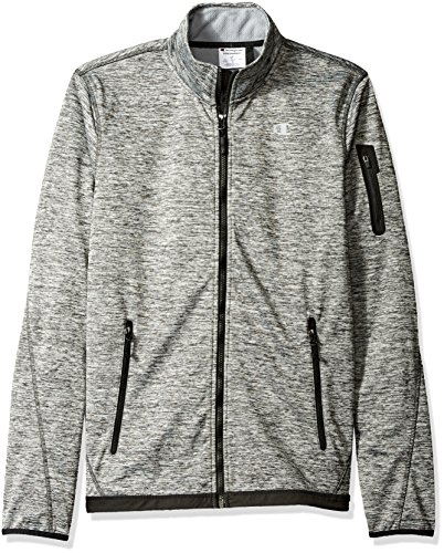Champion Herren Bonded Sport Knit Softshelljacke Grosse Größen - grau - XX-Large - Womens Knit Warm Up Jacket