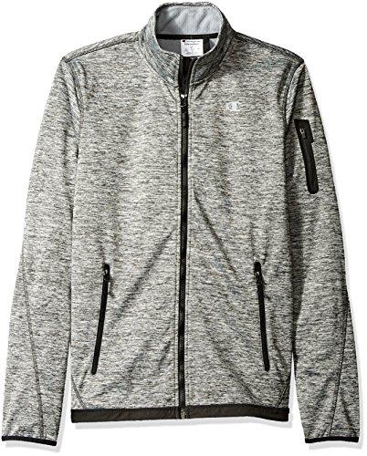 Champion Herren Bonded Sport Knit Softshelljacke Grosse Größen - grau - XX-Large Womens Knit Warm Up Jacket