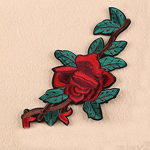 NICOLE DIARY 1pc Blumen Applique bestickt Nähen Eisen auf Patches Abzeichen Kleid Beutel Stoff Handwerk