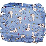 GoodStart Square Shape Soft Cotton Neworn Baby Head Shaping Pillow With Mustard Seeds/baby Rai Pillow/Rai Seed Pouch & Baby Neck Support Pillow In Animal & Cartoon Print, With Detachable Seeds Bag For 0-1 Years In Light Blue Color