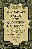 Best Dover Publications Dictionaries - Shakespeare Lexicon and Quotation Dictionary, Vol. 2: v Review