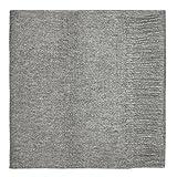 100% Lammwolle Einfacher Schal, Grau