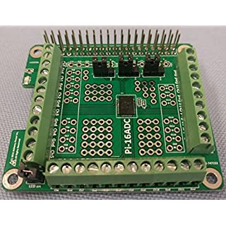 Alchemy Power Inc. Pi-16ADC 16 Channel, 16 Bit Analog To Digital Converter (ADC) For Raspberry Pi. Price includes VAT.