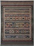 Theko Webteppich Gabiro mit Kelim Motiv, außergewöhnliche Vielfarbigkeit, Größe:160 x 235 cm