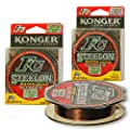 Match Fast Sinking Mono Fishing Line Fluorocarbon Coated Pike Perch Carp Feeder Metchod Spool 150m by Konger