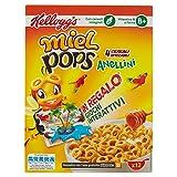 Kellogg's - Miel Pops, Anellini 4 Cereali Integrali - 12 Porzioni, 375 g
