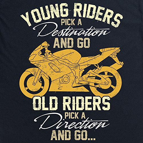 Old Riders T-Shirt, Herren Schwarz