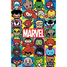 """Maxi poster Marvel """"Personnages kawaii, multicolore"""