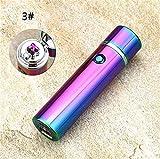 Daozea Cilindro LED antivento fumo accendino Cross doppio tubo di sigaretta elettronica Pulse ARC accendino USB accendini sigaro accendini, multiple color