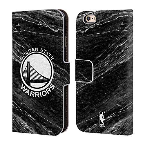 Offizielle Nba Streifen Golden State Warriors Brieftasche Handyhülle aus Leder für Apple iPhone 5 / 5s / SE S&W Marmor