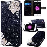 iPhone 7 Plus Hülle,iPhone 7/8 Plus Brieftasche Ledertasche,Vintage Dünn 3D Glitzer Bling Sparkle PU Lederhülle... preisvergleich bei billige-tabletten.eu