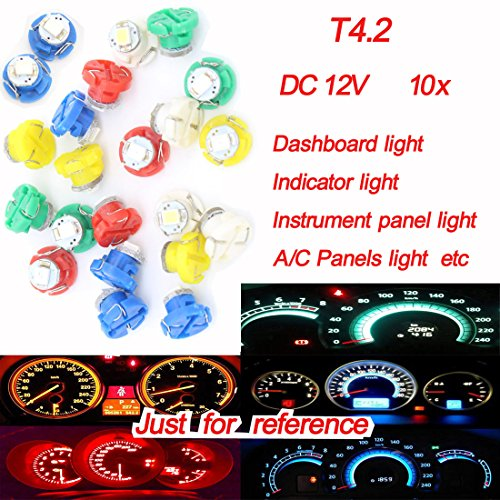 Preisvergleich Produktbild X10 T4.2 dongzhen DC12 V Auto LED-Armaturenbrett Lampe für Honda Peugeot Instrument Panel Licht