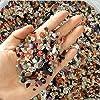ZUINIUBI 250g Colorful Pebble for Aqurium Fish Turtle Tank Landscape Bottom Decoration Opal Glass Sand Crystal Stone… 6