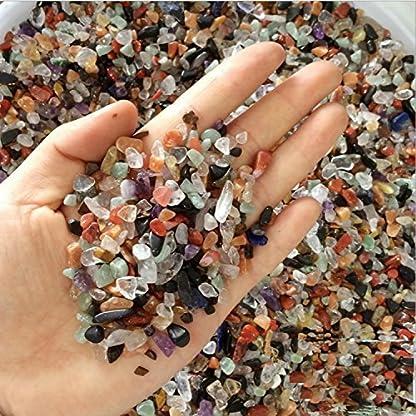 ZUINIUBI 250g Colorful Pebble for Aqurium Fish Turtle Tank Landscape Bottom Decoration Opal Glass Sand Crystal Stone… 1