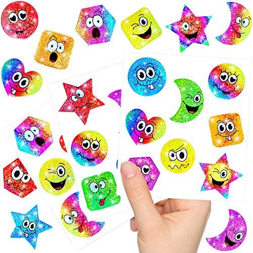 - Kleine Glitzer Strolche - Sticker Bögen ┃ NEU ┃ Kindergeburtstag ┃ Mitgebsel ┃ Regenbogen ┃ Aufkleber für Kinder ┃ 12 Bögen (Schnitzeljagd Halloween)