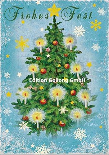 Nostalgische Weihnachtskarte Carola Pabst * Tannenbaum * Frohes Fest