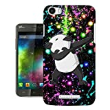 003546 - Dab Panda Abstract Design Wiko Lenny 2 Fashion Trend Protecteur Coque Gel Silicone protection Case Coque