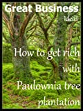 A guide about the most prolific business with wood. Do you have available arable land and some savings in bank? So, you are eligible for getting rich from third year of Paulownia tree plantation.Benefits1.Paulownia is a fast growing tree that can fil...