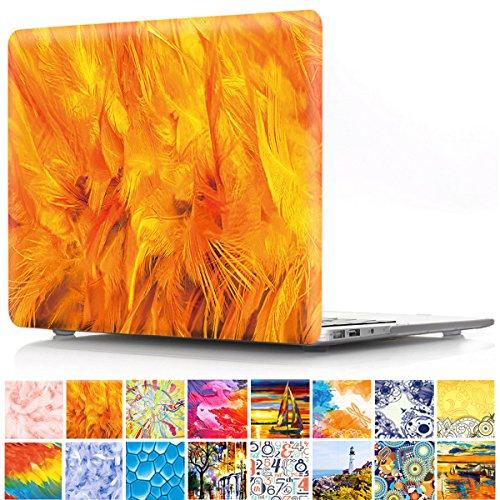 """PapyHall A1370 / A1465 - Carcasa rígida de plástico para MacBook Air de 11"""", diseño de atrapasueños 4 Orange"""