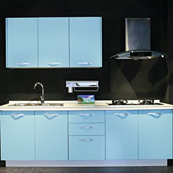 60 x 500 cm Carta adesiva per Mobili Cucina adesivo blu Carta da ...