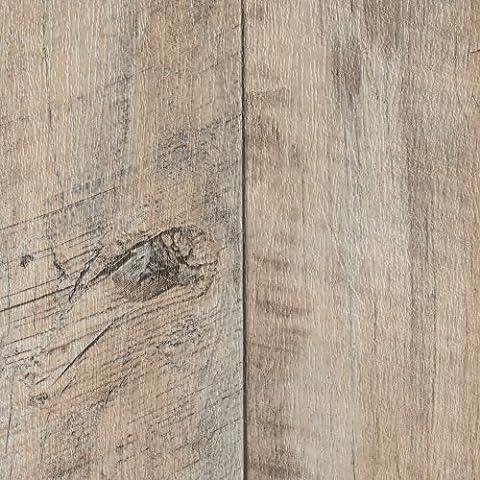 BODENMEISTER BM70400 PVC CV Vinyl Bodenbelag Auslegware Holzoptik Landhausdiele Eiche weiß 200, 300 und 400 cm breit, verschiedene Längen, Variante: Landhausdiele Eiche weiß, 4,5 x 4
