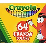 Binney-Smith-52064D-Klassische-Color-Pack-Buntstifte-Wax-64-Farben-pro-Box