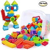 TOMOT 100pcs Kleinkind Spielzeug Kunststoff Konstruktions Bausteine für Kinder Kreatives Spielzeug (Nicht Mit Der Box)