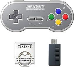 SF30 2.4G Gamepad, YIKESHU 8Bitdo Wireless Controller Klassische Nintendo Gamepad Joystick für Mac, Android und Windows-Geräte