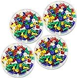 COM-FOUR® 4X 125 Chiodini in Ottone colorato con Rivestimento in plastica Colorata // Diversi Colori (02-500 Pezzi)