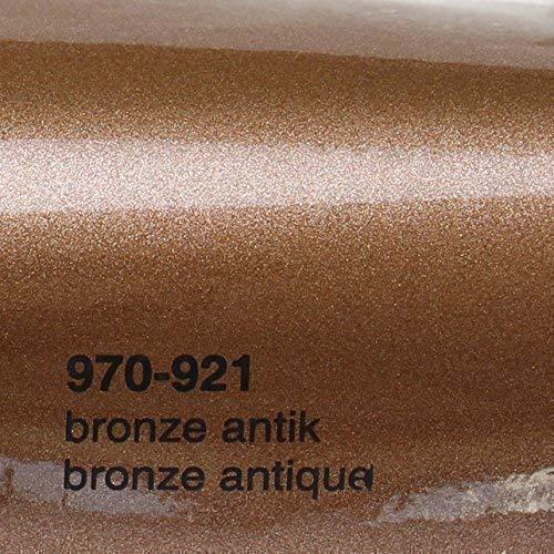 Oracal 21,05€/m² 970RA 921 Bronze Antik Metallic Glanz gegossene Profi Autofolie 152cm breit BLASENFREI mit Luftkanäle