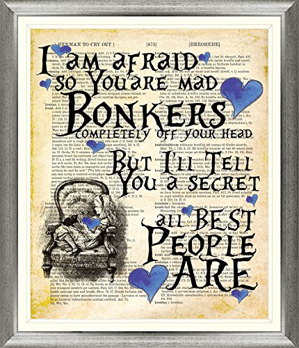 magnificent-antique-alice-in-wonderland-lexicon-dictionary-vintage-book-page-blue