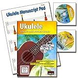 Ukulele Schnell und einfach lernen - Ukuleleschule ( Grundlagen und Spieltechniken / Ideal für Anfänger) mit CD.DVD, Manuscript Paper Pad