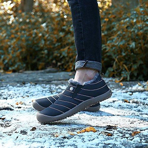 Donne Farcito Alti Uomo Impermeabili B Stivali Nero Stivali Scarpe Per Unisex Basse Bassi Le Caldi Primavera Minetom pxCwAqO5