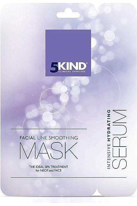 Mascarillas cara y cuello de Colágeno-Máscara antiedad y Serum intensivo de vitaminas-Reduce líneas y arrugas-Mejor Precio Spa facial en casa-Limpia Refresca y Reafirma (Pack de 1): Amazon.es: Belleza