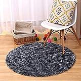 Runder Tisch und Stuhl grauer Teppich, Wohnzimmer warme Shag Matten 100 * 100cm ( Größe : 120cm )