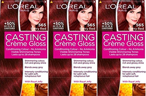 Six Lot de l'oréal Casting Crème Gloss Haircolor - Berry Rouge 565