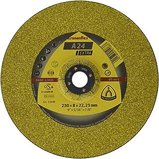 KLINGSPOR KLI-13448-1 13448 A 24 EX Schruppscheiben 230 x 8 x 22,23 mm gekröpft Inhalt: 1 Stück, gekrümt