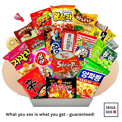 Seoul Box Deluxe | Premium, Authentic and Hand-Picked Korean Snacks, Noodles and Candies -