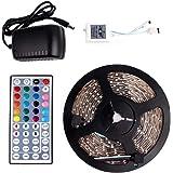 5 M SMD 3528 RGB 300 LED Strip light Waterproof Color Changing+44 Keys IR Remote Control+ Power Supply