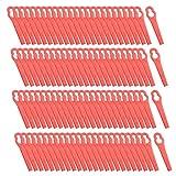 ILOVEDIY Lot de 100 lames en plastique de rechange pour coupe-bordures pour Bosch Einhell (Rouge)