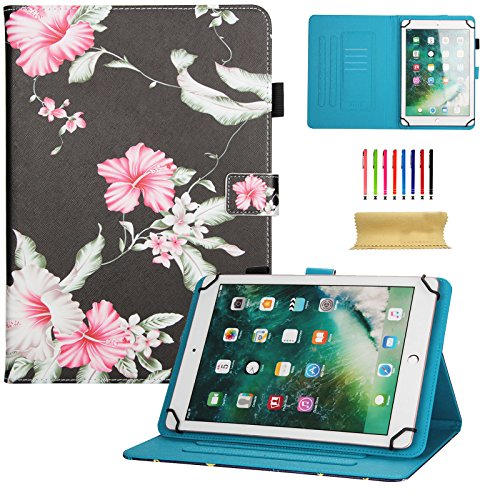 dteck Universal Schutzhülle für Samsung Galaxy Tablet, Apple iPad Mini, iPad 9,7, Amazon Kindle, Google Nexus und Mehr 16,5-26,7cm Tablet 01 Pink Flower for 7.5-8.5 inch Tablet (Mini-tablet Von Google)