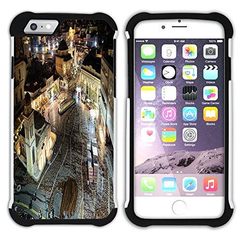 Graphic4You Athen Griechenland Postkarte Aussicht Hart + Weiche Kratzfeste Hülle Case Schale Tasche Schutzhülle für Apple iPhone 6 Plus / 6S Plus Design #15
