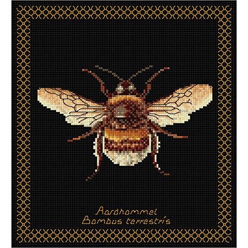 Thea Gouverneur Hummeln Biene auf Aida Kreuzstich-Set, 18-fädig - Kreuzstich-thea Gouverneur