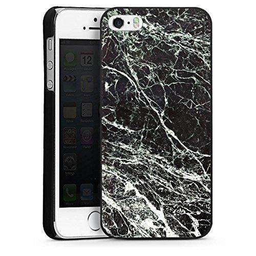 Apple iPhone 4 Housse Étui Silicone Coque Protection Look marbre noir Marbre noir Marbré CasDur noir