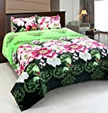 #7: Krishnam Pollycotton Multi Color Double Bedsheet(1 Double Size Bed sheet with 2 Pillow Covers.)