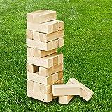H-Collection Wackelturm-Spiel XXL für Innen - und Außenbereich • Wackelturm Geschicklichkeitsspiel Motorik Stapelturm Holzspiel Stapelspiel Holz