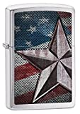 Zippo Star Lighter, Brushed Chrome