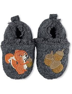 Sterntaler Babyschuh Eichhörnchen, Hausschuh gefüttert, Winterhausschuh, Krabbelschuh
